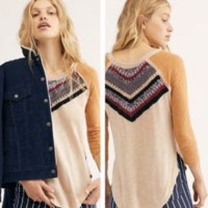 FREE PEOPLE SPRING BOUND LONG SLEEVE TOP